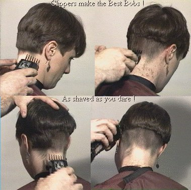 "The ""Bowl-Cut"" is easy to create with a razor. The most difficult part"